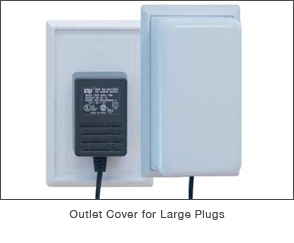 Outlet Cover for Large Plugs