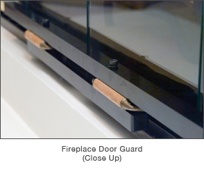 Fireplace Door Guard - Close Up