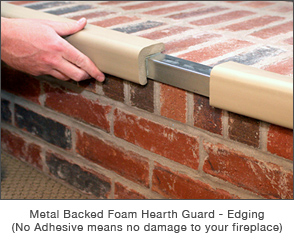 Metal Backed Foam hearth Guard - Edging