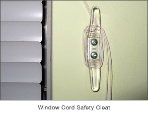 Window Cord Safety Cleat